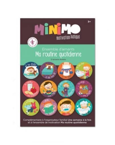 Aimants Ma routine quotidienne – Minimo