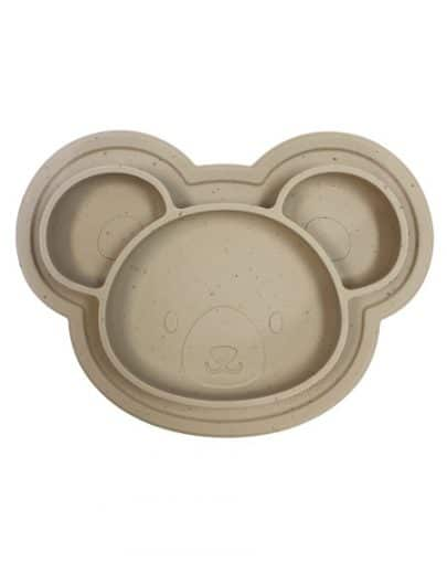 Assiette de silicone – OURS AMANDE – Kushies 1w