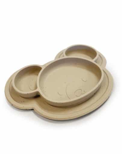 Assiette de silicone – OURS AMANDE – Kushies 2w