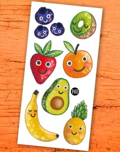 Tatouage temporaire FRUITS EN FOLIE