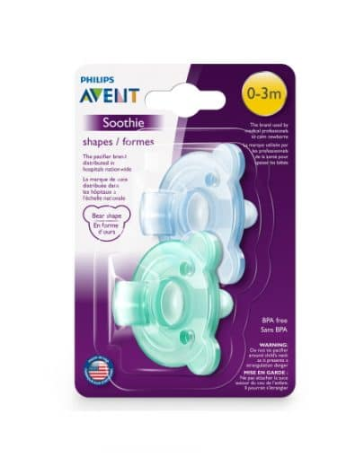 Suce soothie ourson – VERT – Avent 1